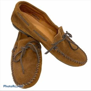 Minnetonka Suede Leather Driving Moccasins 10